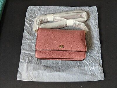 Genuine Michael Kors Pebbled Leather Convertible Crossbody Bag - Rose Pink