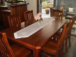 TIMBER DINING SETTING 1800cm WITH 6 CHAIRS Ocean Grove Outer Geelong Preview