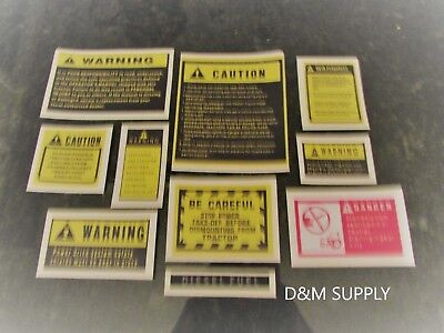 Tractor Caution Decal Kit Kubota John Deere Case Ih