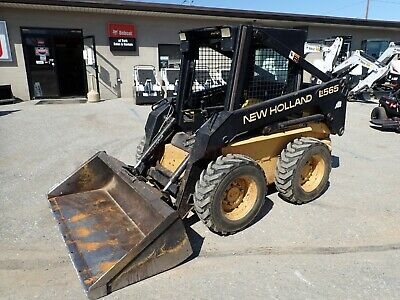 New Holland Lx565 Skid Steer Loader Orops Aux Hydraulics 40 Hp Pre Emissions