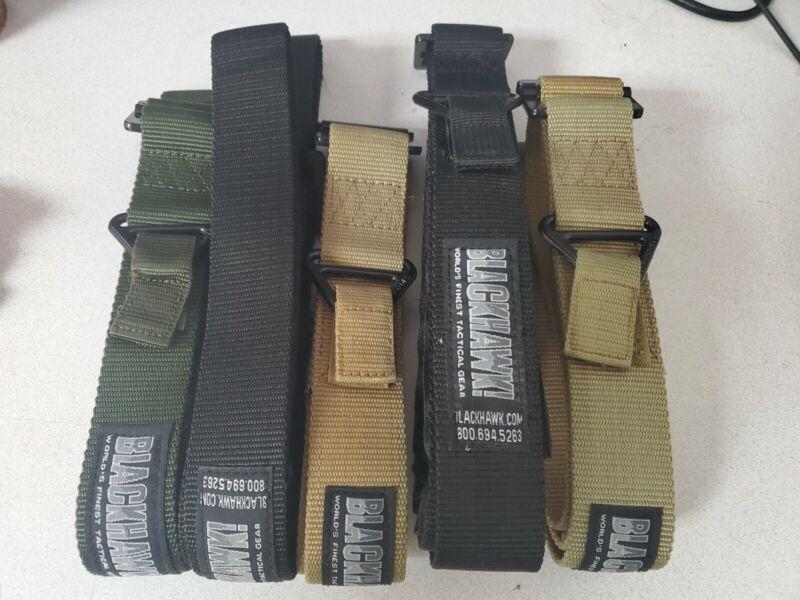 5 Blackhawk Tactical Belts, Green, Tan, Black B1