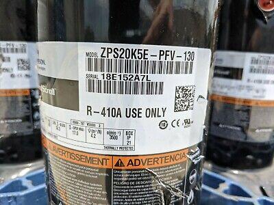 New Copeland Scroll Compressor Zps20k5e-pfv-130 208-230v Volts 1ph Phase R-410a