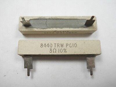 3 Ohm 10 Watt 10 Wire Wound Power Resistor Nos New Old Stockqty 10 Ead4