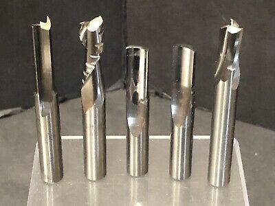 Onsrud Carbide Bits One Two Three Upcut Straight V O Flute Router 38 Lot Of 5
