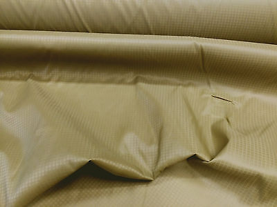 Discount Fabric Ripstop Rip Stop Nylon Water Resistant Coyote Brown RS20 (Water Resistant Fabric)