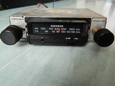 Vintage Opel Record C 1970 SIEMENS Car Radio