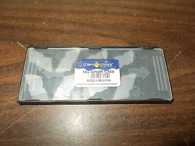 Cobra Carbide Ng 4250r Uncoated C550 Carbide Insert- New