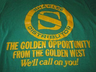 SHAKLEE DISTRIBUTOR VINTAGE TEE SHIRT 1980S MEDIUM