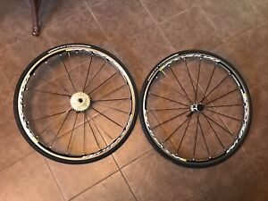 Mavic Ksyrium Elite S Road Bike Wheel Set - w tires and cassette