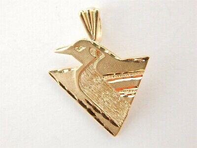 14K Yellow Gold Diamond Cut Pittsburgh Penguin Pendant Charm NHL 1.8 grams 14k Gold Penguin Charm