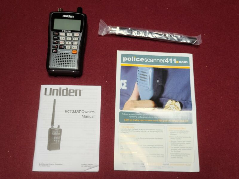 Uniden BC125AT 500 Channel Handheld Scanner with Alpha Tagging