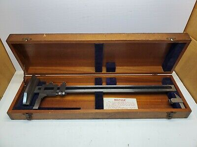Brown Sharpe No. 585 Machinists 16 Vernier Height Gage Free Shipping
