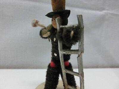 antike Kaminfeger Figur 7,5 cm, Schornsteinfeger Kaminkehrer Glücksbringer #2194