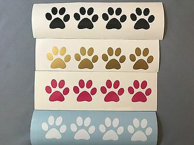 (10) Pet Paw Prints Vinyl Decals Stickers Cat Dog Puppy Kittens Window Yeti