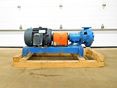 Mo-3403 Goulds 3756 Pump W 15 Hp Motor. 3 X 4 - 10. 1765 Rpm. 208-230460 V.