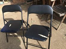 Black folding chairs Wallacia Liverpool Area Preview