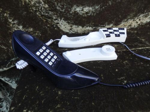 Two Vintage telephone Wave phone Columbia Telecom shoe phone high heeled