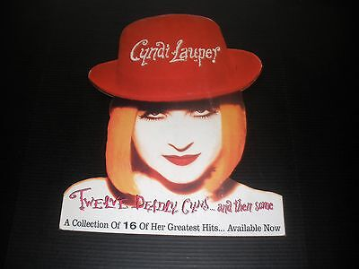 CYNDI LAUPER 12 DEADLY CYNS 1994 VINTAGE ORIG MUSIC STORE PROMO STANDEE DISPLAY