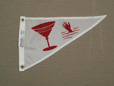 Outdoor Nylon Pennant (Cocktail Martini Hand Indoor Outdoor Nylon Wall Boat Pennant Grommets 10
