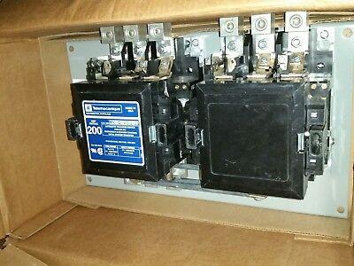 200 Amp 3ph 208220 Volt Telemecanique Mc-0-283-22 Onan 307-2439 Dual Contactor