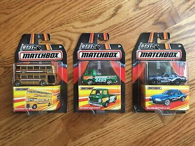 3 Best Of Matchbox-Routemaster Bus, 93 Ford Mustang LX SSP, 66 Dodge A100