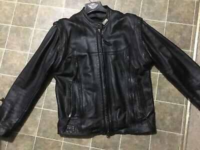 Harley Davidson Willie G Leather Jacket USA- Removable Sleeves & Lining Men L