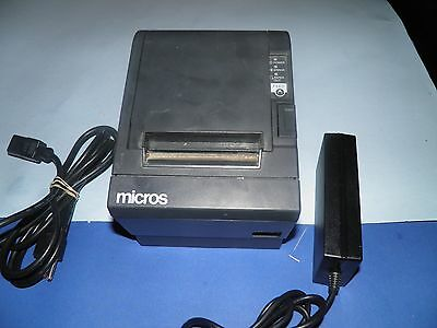 Micros Epson Tm-t88iii M129c Thermal Pos Receipt Printer With Power Supply Idn
