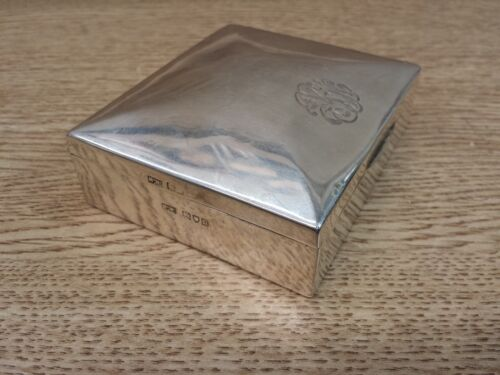 Mappin & Webb London English Sterling Silver Cigar Cigarette Desk Box