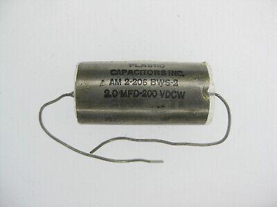 Vintage Metalized Polyester Foil Crossover Capacitors Nos 1.0 2.0 3.0 5.0uf 200v
