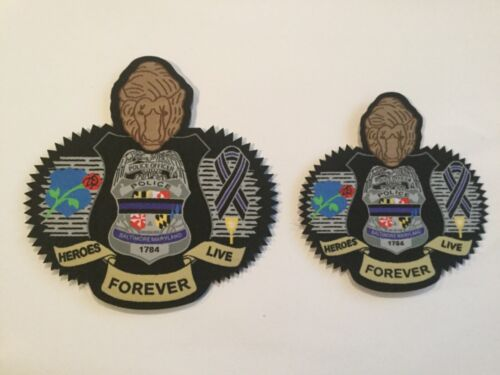 Baltimore City Police Heroes Live Forever patch Maryland version 1&2