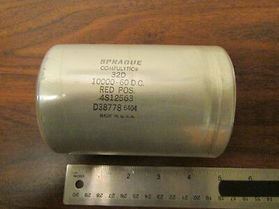 Sprague Compulytic 32d Electrolytic Capacitor 1000-60dc Made In Usa
