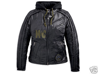 Harley Davidson Women Pacer Black Leather Jacket 3in1 Race Cat S L XL 97124-13VW