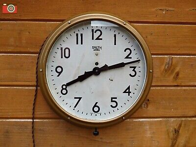 VINTAGE 1940's EARLY SMITH SECTRIC WALL CLOCK. Lovely Original Metal Clock