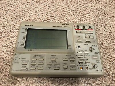 Leader Model 300 Dmmscope Portable Oscilloscope Scope Works But Button Missing