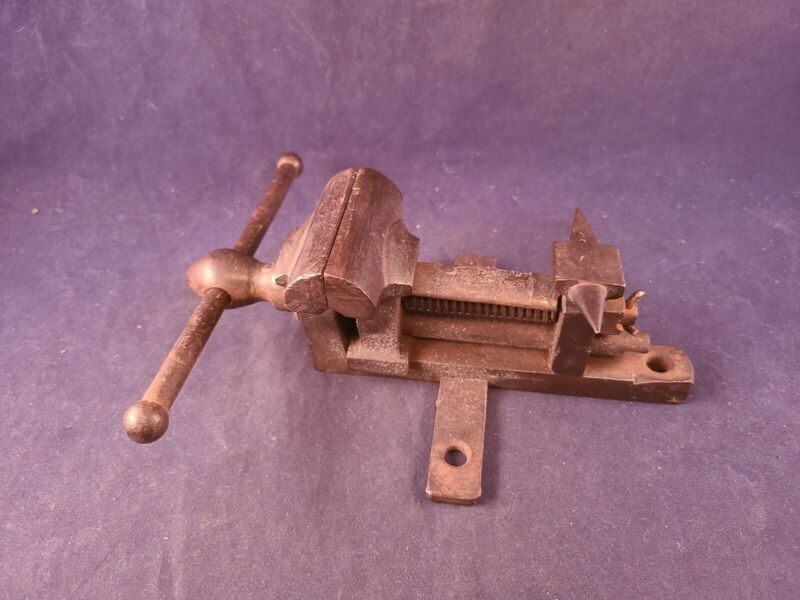 """Extremely Unusual and Interesting Bench Vise  2 5/8"""" Jaws w/ Anvil"""
