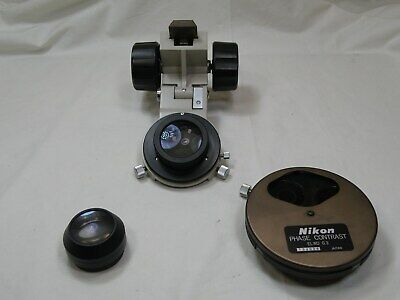 Nikon Diaphot Phase Contrast Condenser Assembly Elwd 0.3 Used Works Fine