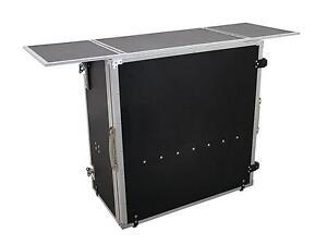 Mobile Theke zusammenklappbar 1480x510x930mm Messe Flightcase DJ