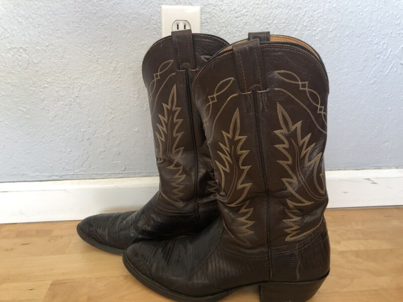 Mens, Nocona, Cowboy, Lizard, Skin, Brown, Boots, Size, 10.5D