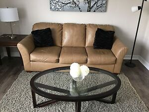 Leather couch and love seat!