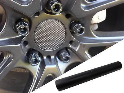 4x Alufelgen Felgen Naben Deckel Design Folie Schwarz Matt für viele Fahrzeuge