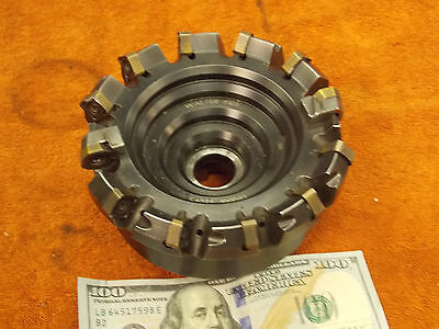 """Walter 5"""" SHELL END FACE MILL 40mm ARBOR sz. 12 carbide bit F4033-100081 coolant"""