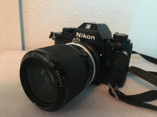 Nikon EM SLR Film Camera with Nikon Lens Nikkor 43-86mm 1:3.5
