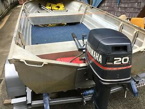 Sea Jat tinny , 20 hp yammy on off road Danbier trailer. Caravonica Cairns City Preview