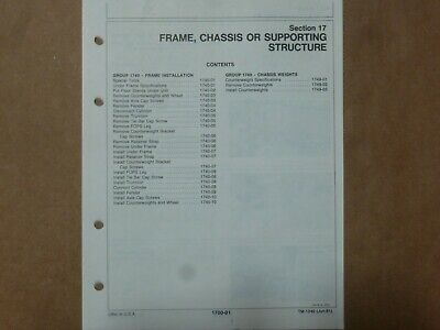 John Deere 480c Forklift Frame Chassis Supporting System Service Repair Manual