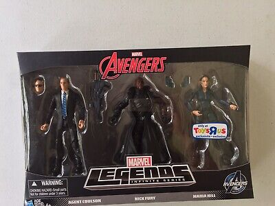 Marvel Legends Avengers Infinite SHIELD 3 Pack Toys R Us Excl. 2015 New Hasbro