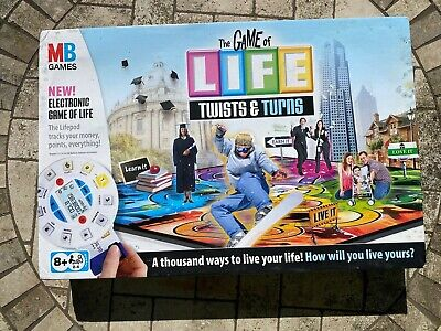 MB Game of Life Twists and Turns Electronic Board Game - Brand new with damage