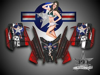POLARIS PRO RMK - RUSH 2010-2015 Decal Sticker Wrap Graphics Aircraft Pinup Red