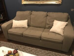 Memory foam pull out couch size queen bed