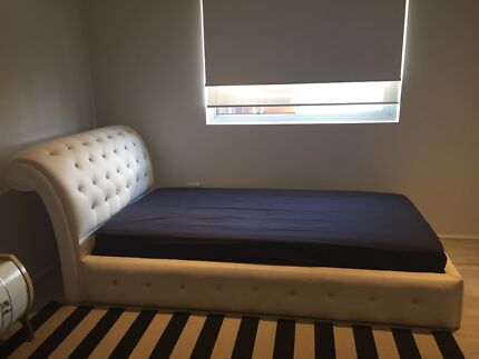 BED FRAME FOR SALE WHITE AND CRYSTAL KS $250 NEG!! Revesby Bankstown Area Preview