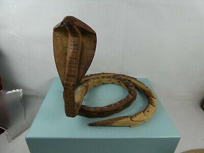 Vintage Articulated Wood Snake - Cobra.